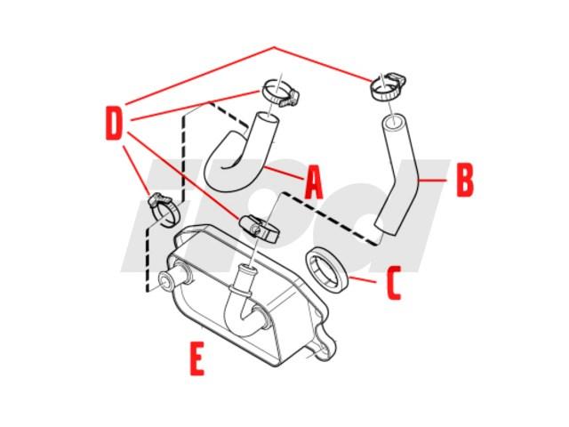Volvo Engine Oil Cooler Hose MTC 114468