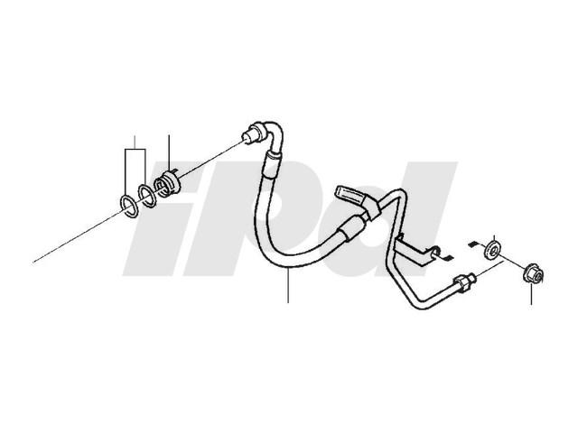 Automatic Transmission Cooler Oil Hose P2 S80 Genuine