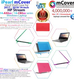 mcover hard shell case for hp stream 14 ax000 series 14 windows laptop and hp [ 1000 x 1000 Pixel ]