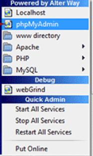 Open phpMyAdmin Settings