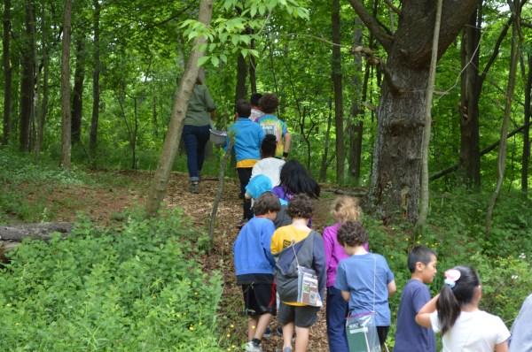 Graders Study Habitat Of Belle Sherman Nature Trail
