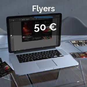 Offre Création Flyers / Prospectus /Dépliants : 50 euros
