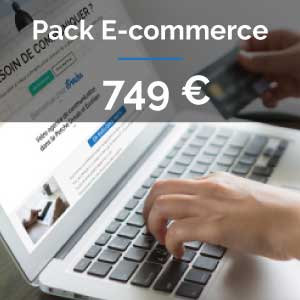 Pack Site e-commmerce ou boutique en ligne ou catalogue en ligne : 749 euros