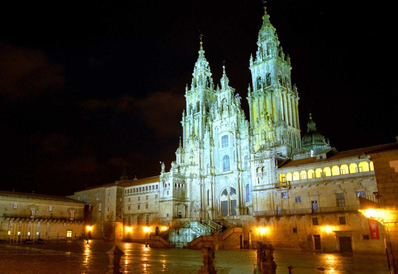 qué es el Camino de Santiago Catedral noche