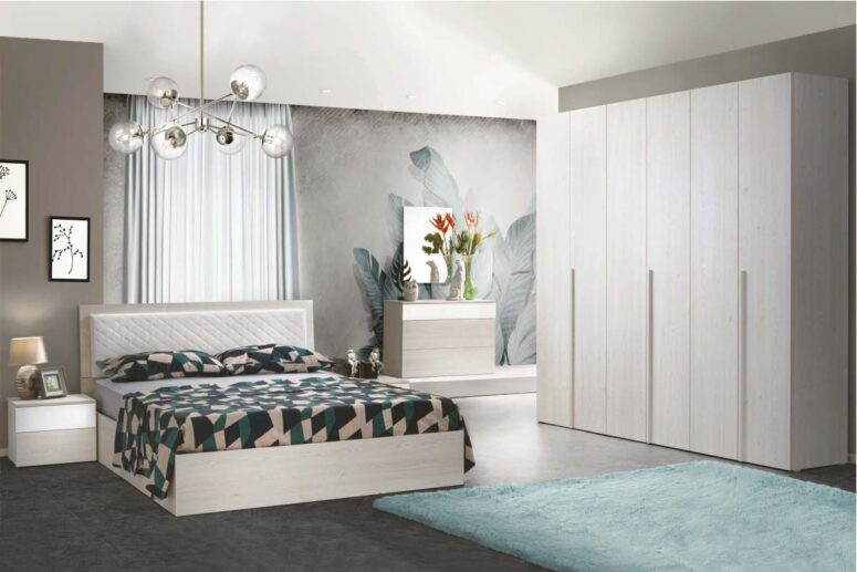 Ispirazione per una camera da letto moderna ed accogliente: Camere Da Letto Moderne Palermo Ipershop