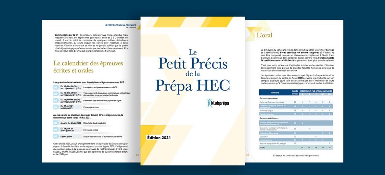 Le Petit Précis de la prépa HEC : nouvelle édition 2021