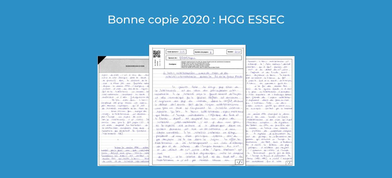 Bonne copie 2020 : Histoire, Géographie et Géopolitique ESSEC
