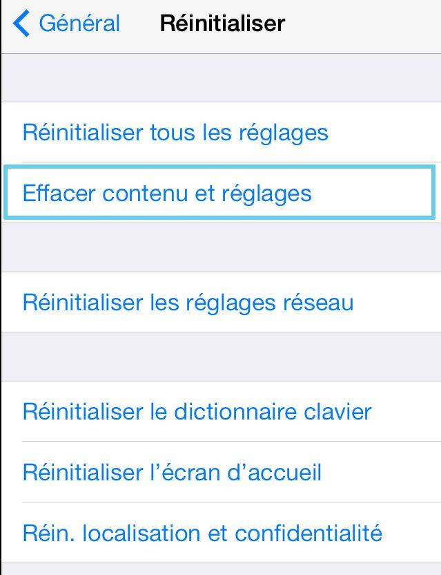 Delete iPhone content