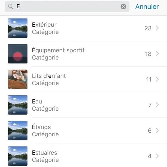 IOS tip search photos