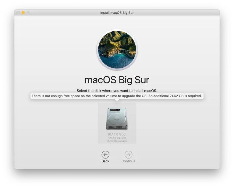 macOS Big Sur installer