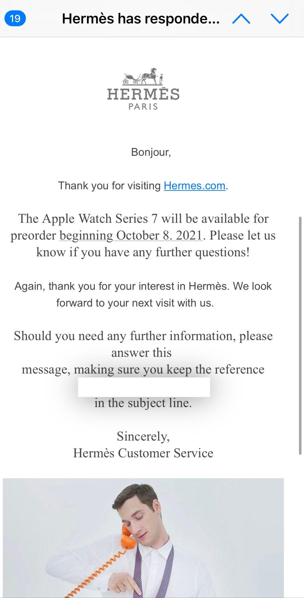 Mail Hermès launch Apple Watch Series 7