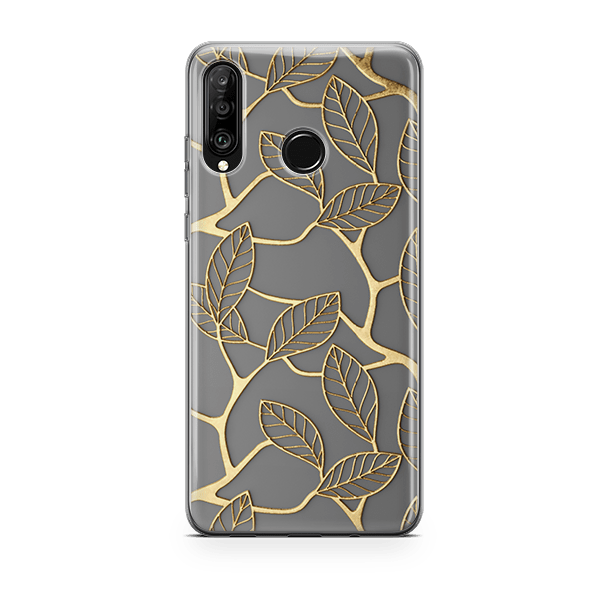 Gold-Leaf-Huawei-p30-lite-soft-case