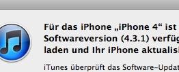 iOS 4.3.1 ist über iTunes erhältlich
