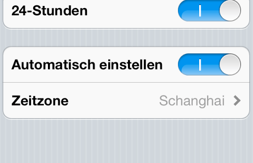 Zeitzonen-Problem unter iOS 5.0.1