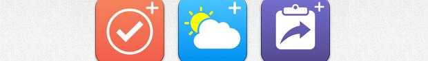 Empfehlung: drei iOS 8 Widget-Apps im Bundle