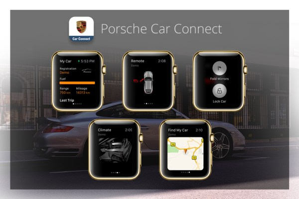 Apps für die goldene Apple Watch - Porsche Car Connect