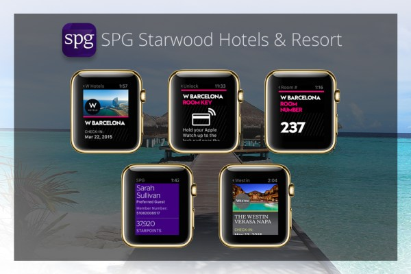 Apps goldene Apple Watch - SPG Starwood Hotels & Resort