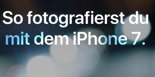 So fotografierst du mit dem iPhone 7: neue Videos