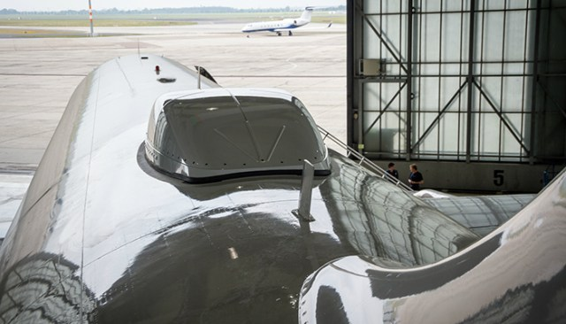 Satellitenantenne auf einem A319 der Eurowings