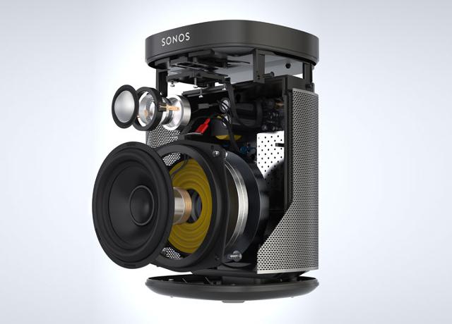 Innenleben Play 1 Lautsprecher von Sonos