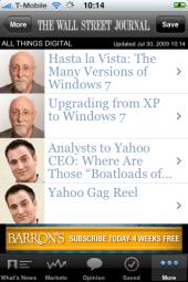 Walt Mossbergs Kolumnen sind Teil der WSJ-App