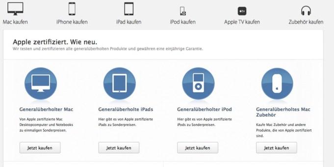 Apple Produkte günstiger kaufen