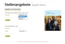 Stellenausschreibung von Apple in Hamburg © Apple