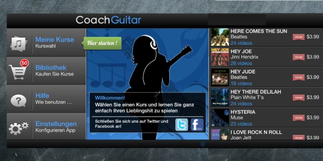 Guitarre lernen mit der App Coach Guitar