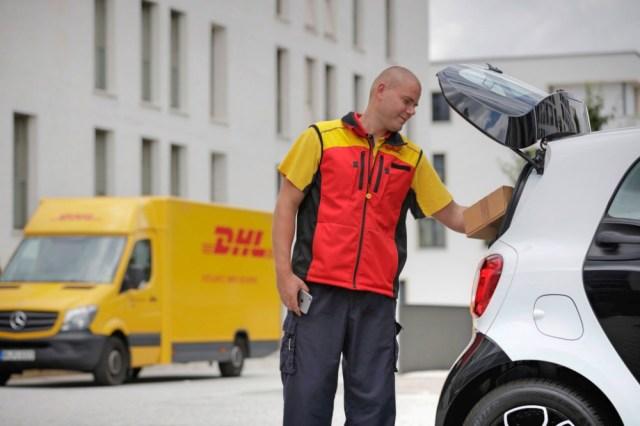 Daimler DHL drop Paket