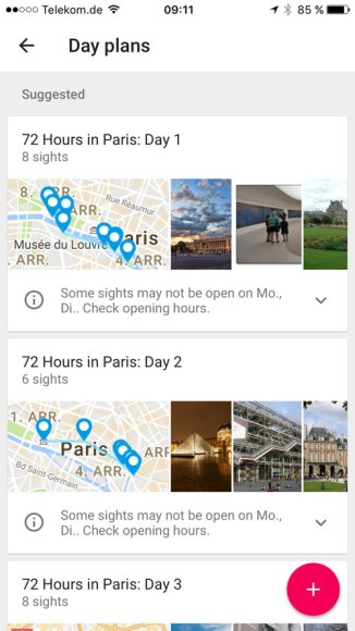 Google Trips Reiseplanung