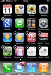 Icons tanzen auf dem Startbildschirm zum leichteren anordnen