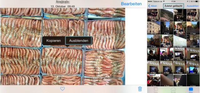 iOS 8 Fotos ausblenden