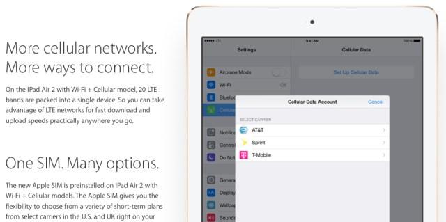 iPad Air 2 Sim-Karte