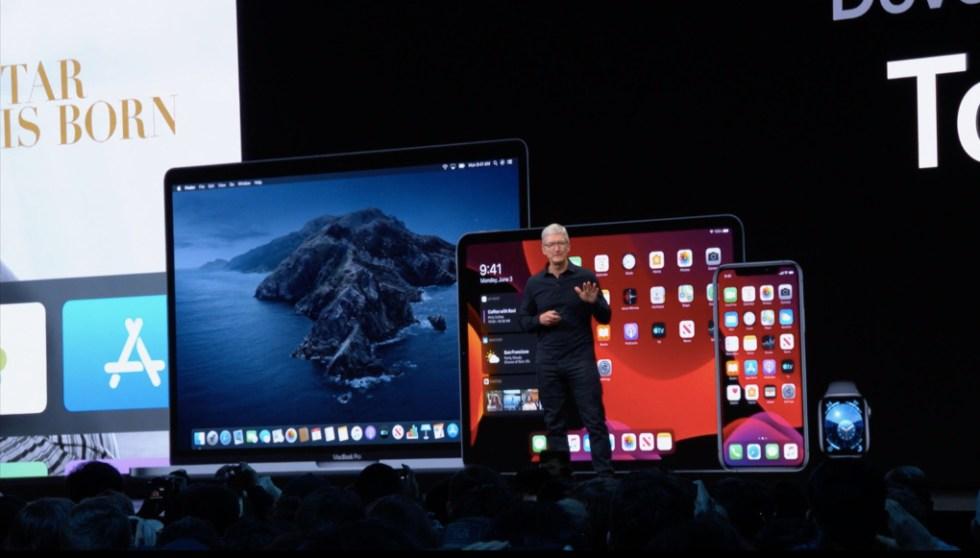 Tim Cook bei der WWDC 2019