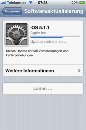 Update auf iOS-Version 5.1.1
