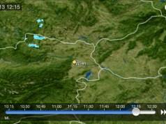 Niederschlagsradar von Wien in WeatherPro