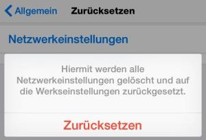 Kein WLAN-Empfang mehr: So setzen Sie die Netzeinstellungen beim iPhone zurück.