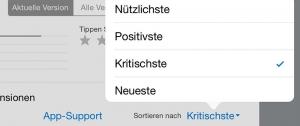 Rezensionen filtern: So lassen Sie gezielt nur die schlechten App-Bewertungen anzeigen.
