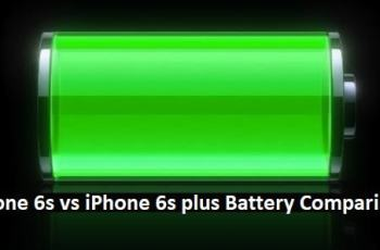 Iphone 6s vs Iphone 6s plus Battery Comparison