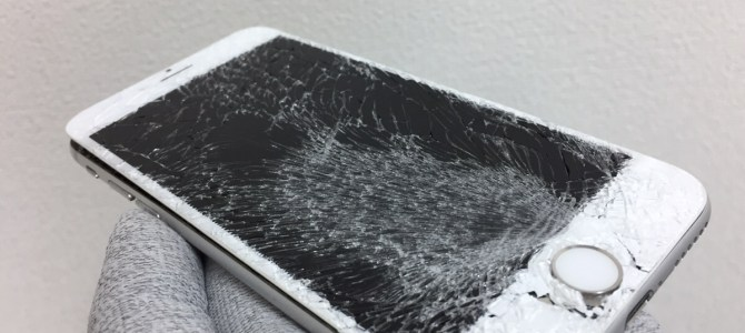iPhone6 フロントパネル交換 札幌市西区より「車にiPhoneが轢かれてしまった・・・」