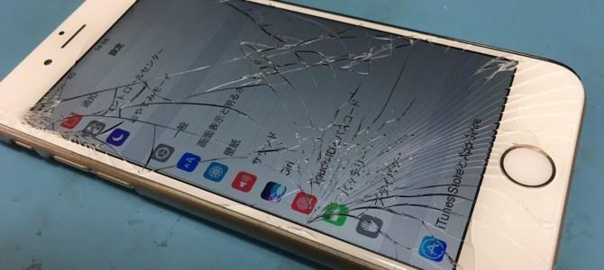 【iPhone6】踏んでしまった iPhone修理専門店アイフォンクリア琴似店ブログ2017/05/18