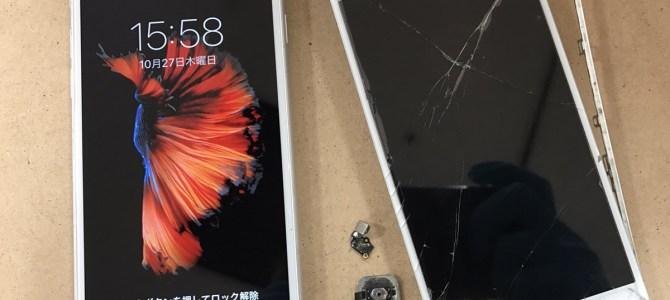 iPhone6フロントパネル交換修理 札幌市西区より『割れを放置してたら映らなくなった』