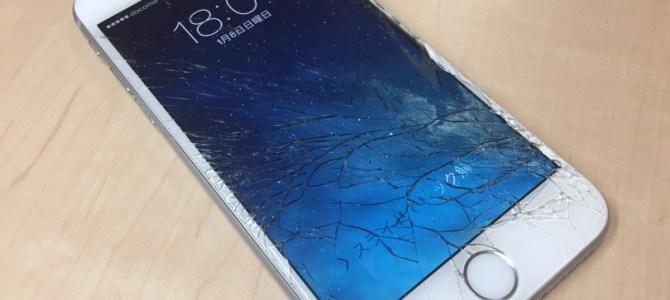 iPhone6フロントパネル交換修理 札幌市北区より『気づいたら割れてた』