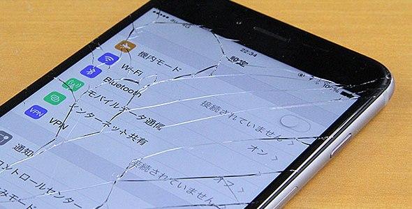 iPhoneのフロントパネル修理について
