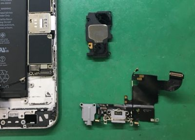 アイフォンのライトニングコネクタを分解した図