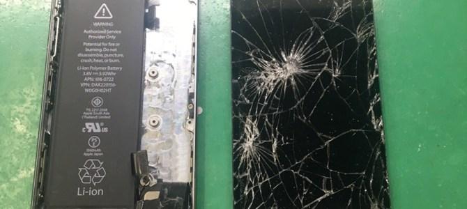 iPhone画面割れ+水没( ;´Д`)これって直るの?iPhone修理専門店アイフォンクリア新札幌カテプリブログ2018/3/16