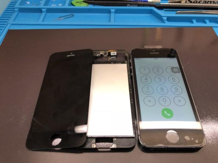 iphone 画面 修理 液晶 ガラス 交換 自己修理