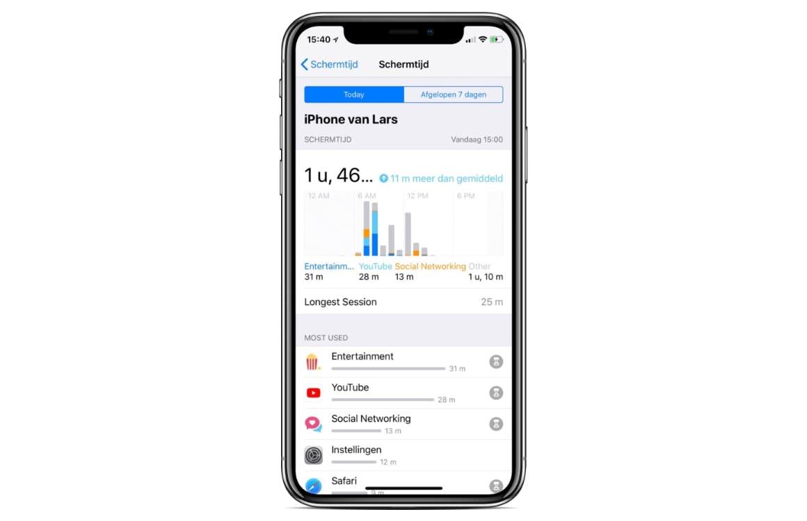 iOS 12 Schermtijd: Zo maakt iOS je iPhone minder verslavend