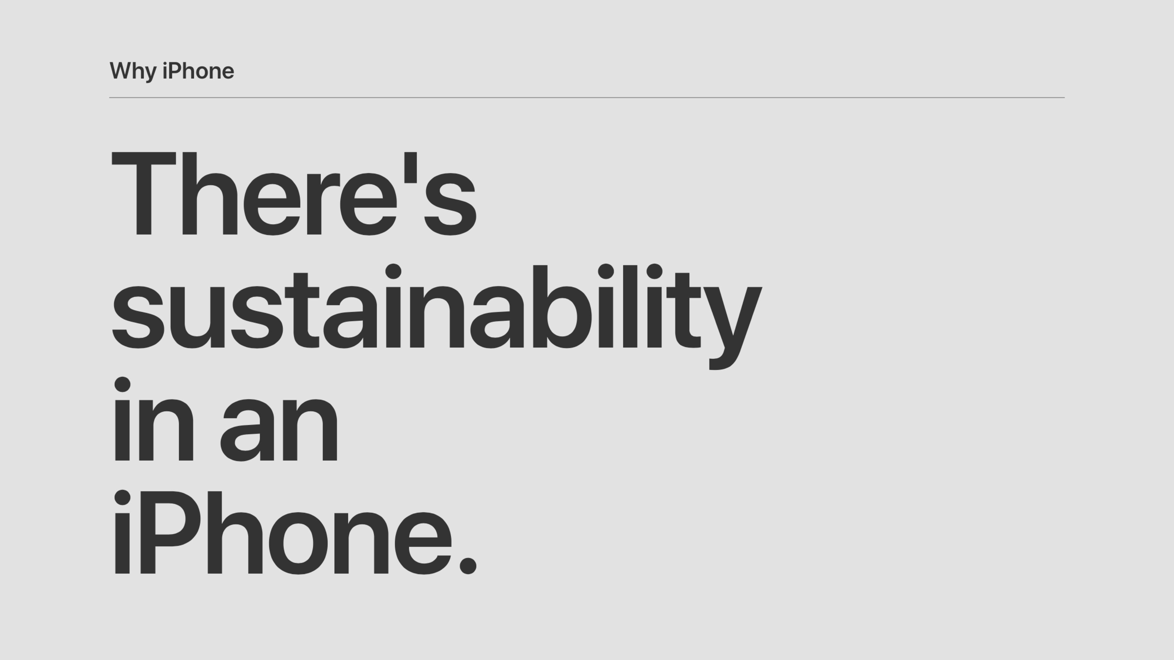 Apple promotes iPhone privacy and sustainability in new