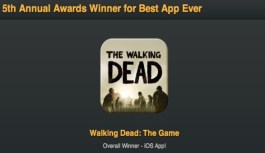 Best App Ever 2012 Winner, Walking Dead: The Game Takes the Top Spot